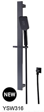 CELIA 3 function shower rail  Chrome / Black