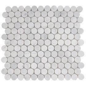 Calacutta round penny mosaic 285x305mm