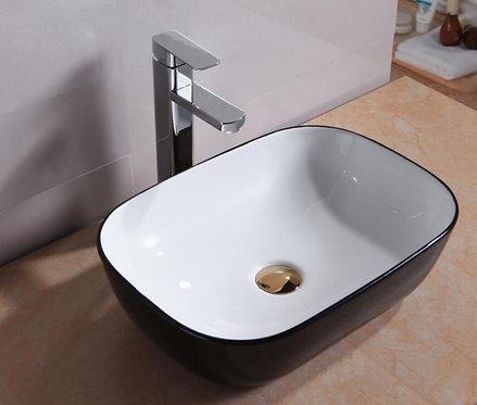 LUCERNE above counter basin Black / White
