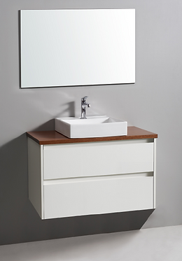 600mm LEONA  vanity - ceramic/stone with under or above counter basin