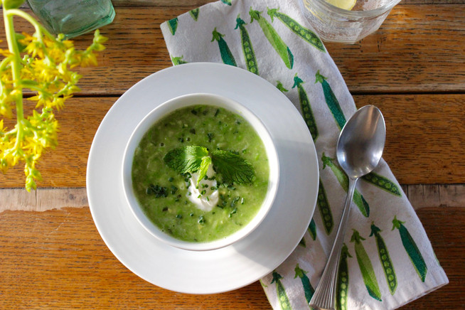 Fresh Pea & Corn Soup