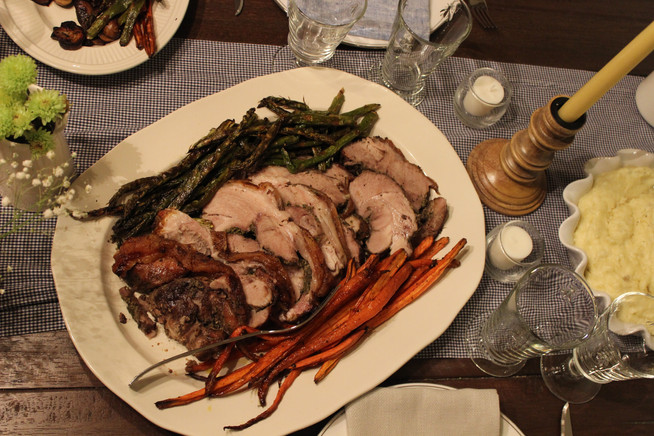 Our Easter Dinner | Porchetta with Roasted Vegetables, Mashed Potatoes, and a Creamy Lemon Pie
