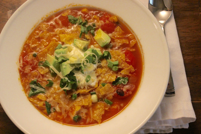 Simplified Mexican Tortilla Soup