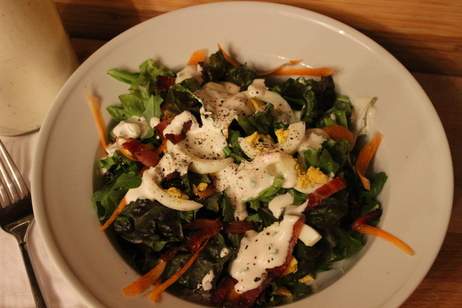 Dinner Salad with Buttermilk Dressing
