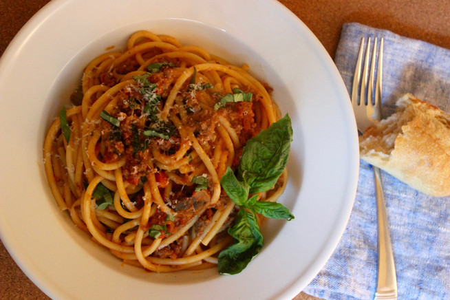 Bucatini with Ragù | Pasta with Meat Sauce