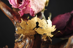 Maple Leaves in Brass (SOLD)