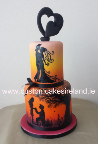 Love Scene Wedding Cake