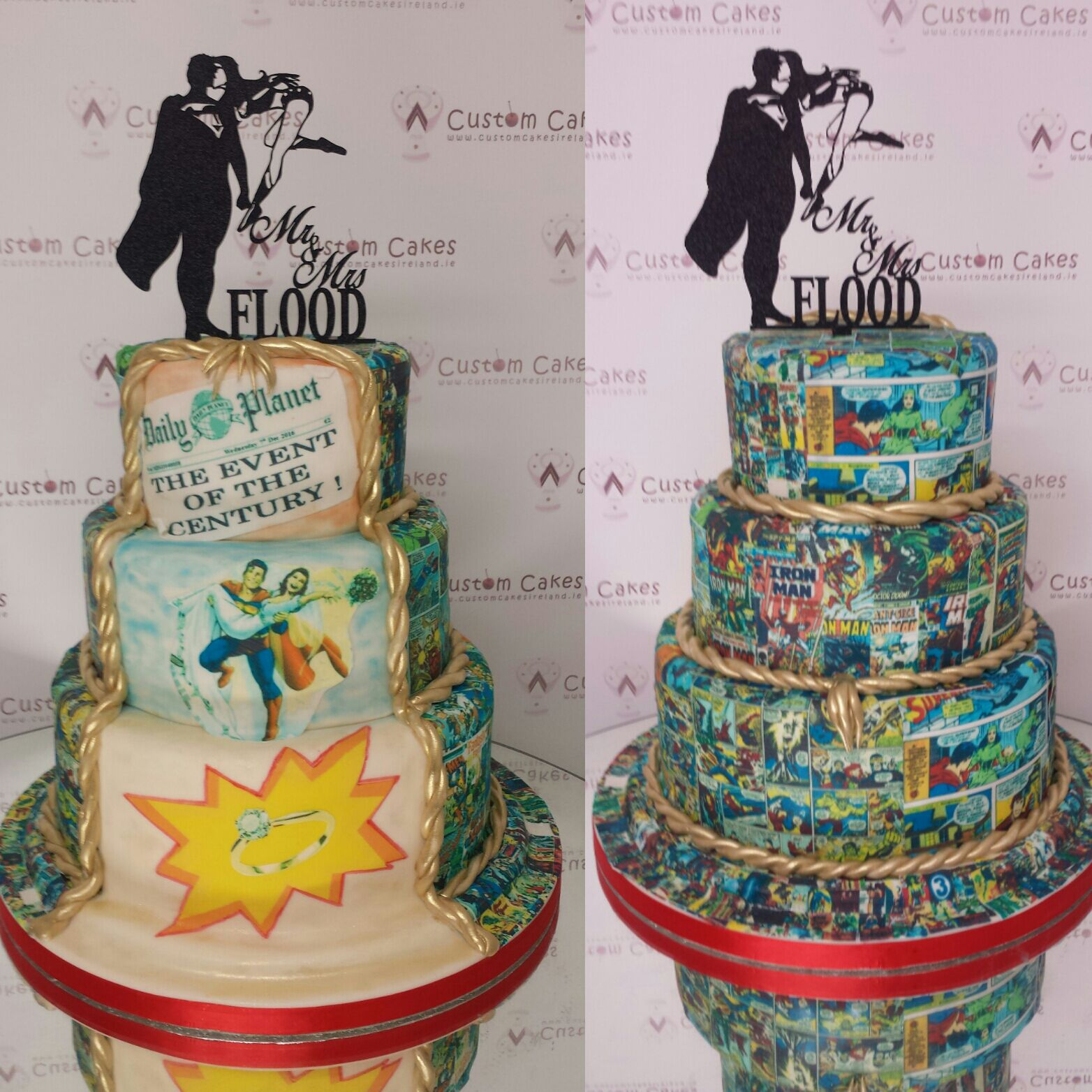 Comic Book Wedding Cake