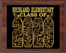 2020 Class Plaque