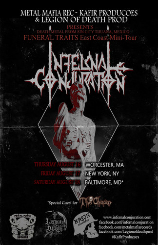 August 2018 East coast dates