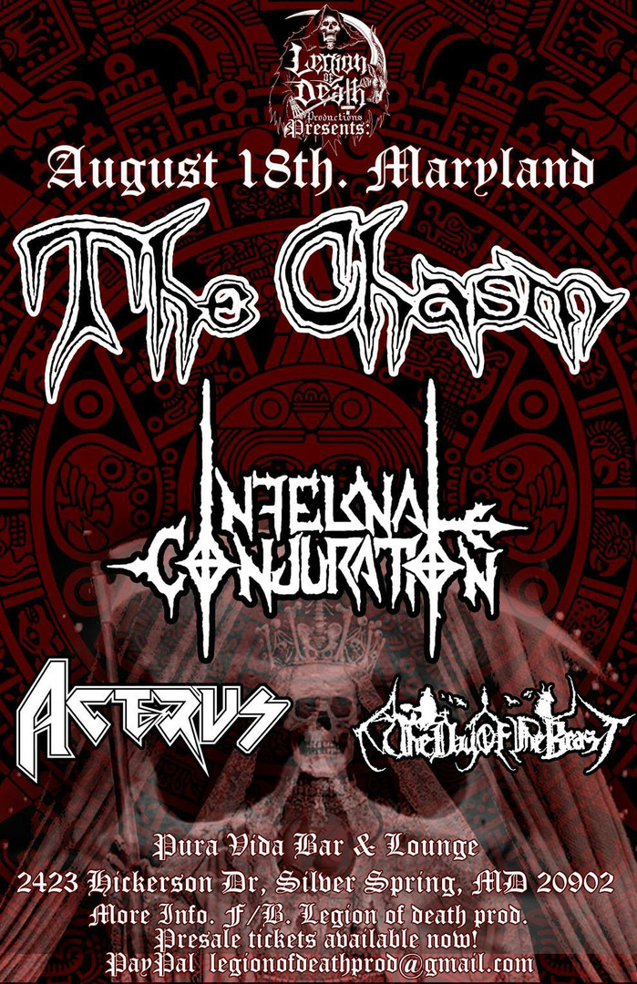 Show with The Chasm August 18, 2018