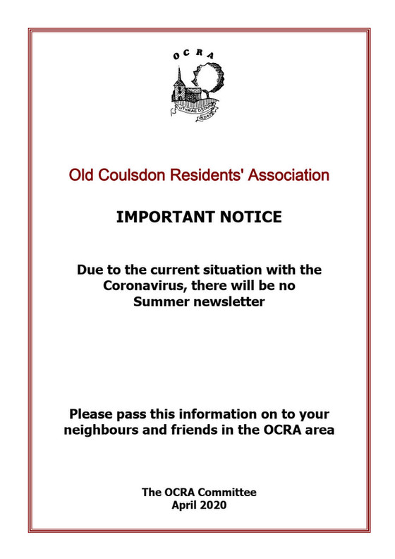 OCRA Summer Newsletter Notice