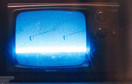 Static on a television set