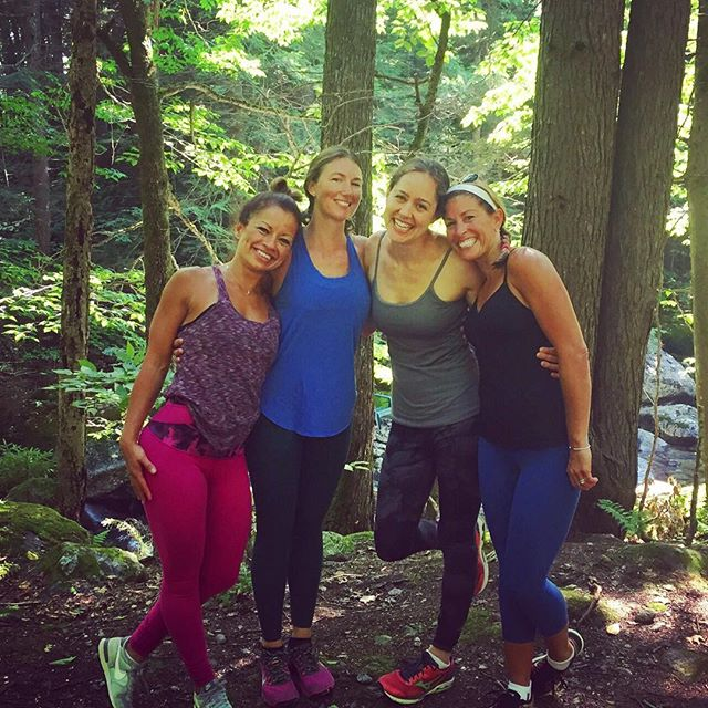 Namaste in the woods with these beautiful souls 🙏🏻👌🏼🐝🌲🌳🌿🍃 _studio143scituate _clconway _ann