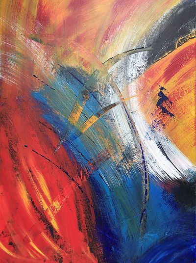 Fine Art Abstract Acrylic Painting