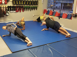 MMA Conditioning Class a Hiltz Hapkido side plank