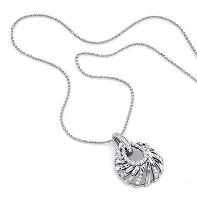 CELESTE, Collier pendentif diamant pour femme Or Blanc 18 carats