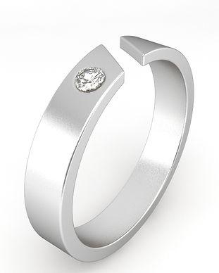 Bague diamant homme - Joaillerie Gham