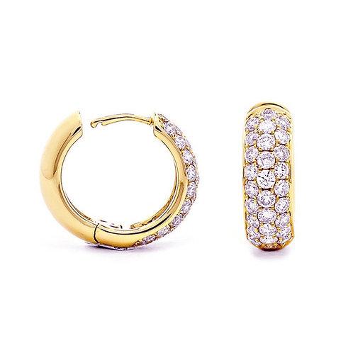 SONIA, Boucles d'Oreilles diamant en oxyde de zirconium pour femme plaqué or
