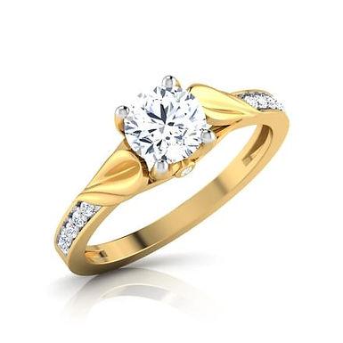 VAYNA, Bague Alliance Diamants Solitaire pour Femme Or 18K 750°