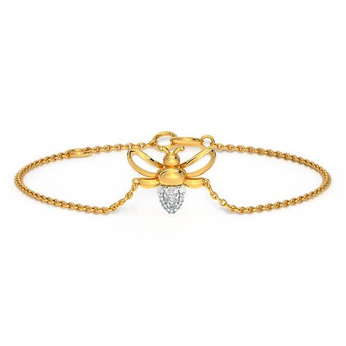 MiaBee, Bracelet Or 14 carats serti de Petits Diamants