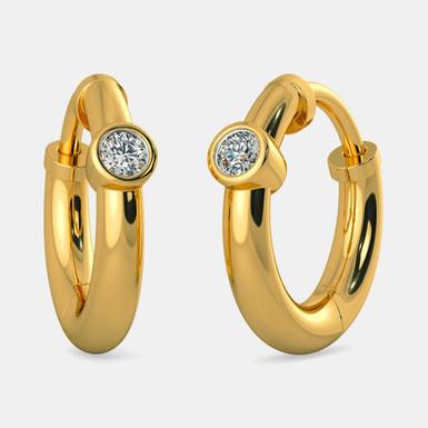 MesSoly, Boucles d'Oreilles Diamants Or 18 carats pour enfant / adolescent