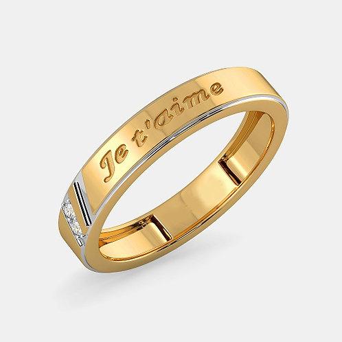 JE T'AIME, Alliance Diamants Or Jaune 18 carats - Joaillerie Bijouterie Ghaum