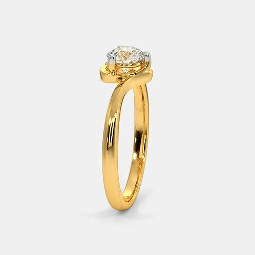 Bague Diamant Solitaire Or Jaune 18 carats, ALove