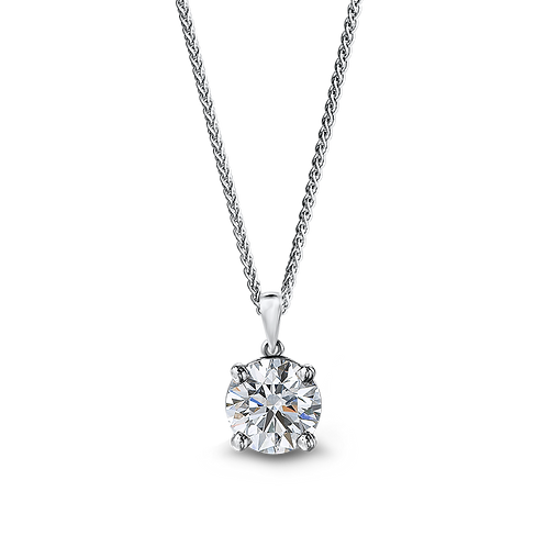 OneLoveYou, Pendentif Diamant Solitaire 0.33 ct Or Blanc 18 carats