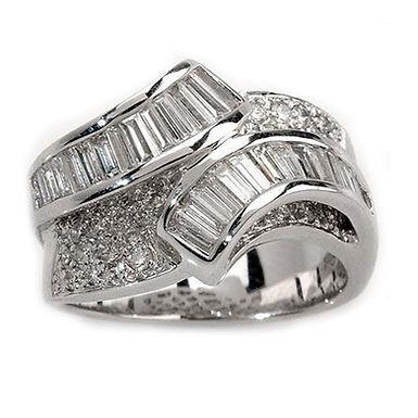 ELSA, Bague Diamant Joaillerie pour Femme Or Blanc 18 carats
