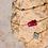 Thumbnail: Collier Triple Rubis Naturel Argent 925 Rhodié Or Jaune pour Femme
