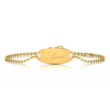 Sara, Bracelet Or Jaune 18 carat Floral Personnalisable
