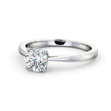 SALY by GHAUM, Bague Diamant Solitaire Or Blanc 18 carats
