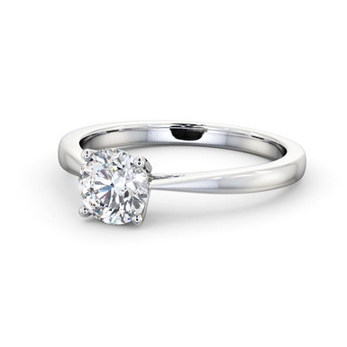 SOLY by GHAUM, Bague Diamant Solitaire Or Blanc 18 carats