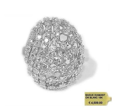 FABULOUS, Bague Diamant Joaillerie pour Femme Or Blanc 18 carats