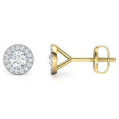 ETERNITY, Boucles d'Oreilles Puces Diamants pour Femme Or 18 carats
