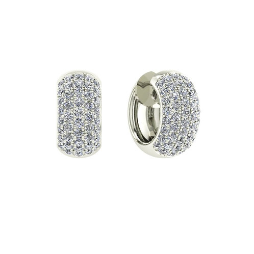 "Boucles d'oreilles ""Fany"" en argent 925° serties de diamants en oxyde"