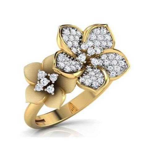 FLORE, Bague Alliance Diamants mariage pour Femme Or 18 carats 750°