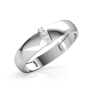 GASPARD, Bague Alliance Diamants mariage pour Homme Or 18 carats 750°