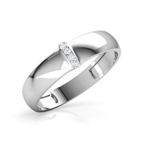 GASPARD, Bague Alliance Diamants mariage pour Homme Or blanc 18 carats 750°