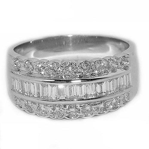 HAMPTON FbyG, Bague Diamants Joaillerie pour Femme Or Blanc 18 carats