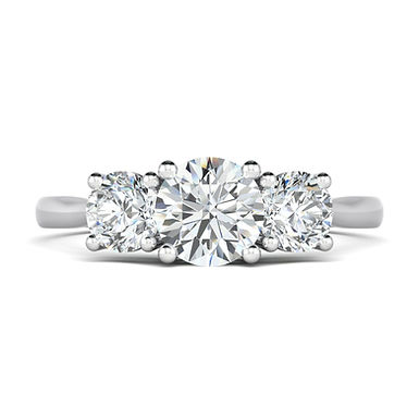 Blossom Love, Bague Diamant 3 Solitaires / 1 ct / G / VS Or 18 carats