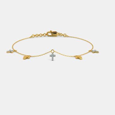 La Croix de Chloé, Bracelet Or Jaune 18 carat sertie de diamants ronds