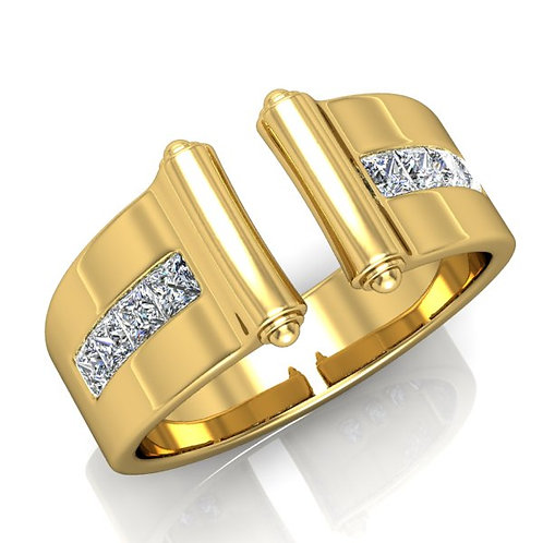 VENDOME, Bague Diamants Princesses Joaillerie pour Femme Or Jaune 18 carats