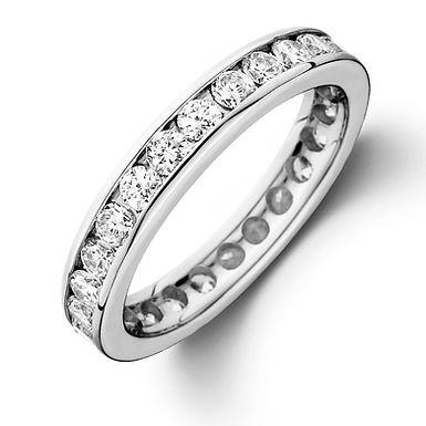 ETERNELLE, Bague Alliance diamants ronds Or 18 carats pour femme