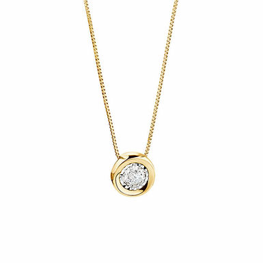 Swag, Collier Diamant Solitaire / F / VVS Or Blanc 18 carats