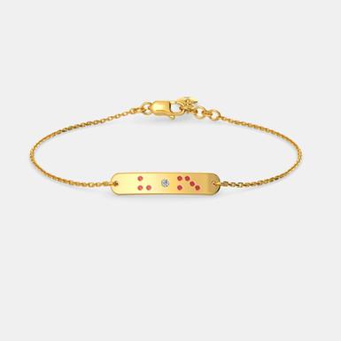 Aimey, Bracelet Or Jaune 18 carat serti de pierres précieuses