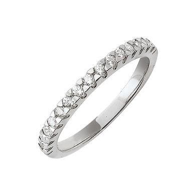 Abigail, Bague Alliance Diamant Or Blanc 18 carats