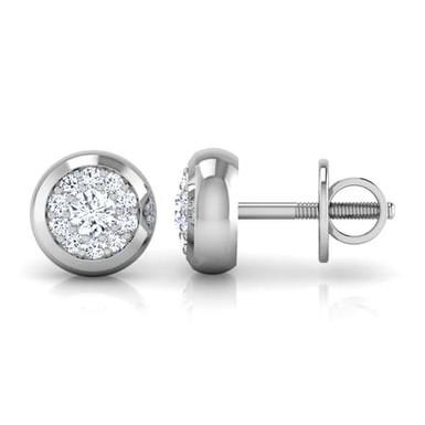 ISA, Boucles d'Oreilles Diamants pour Femme Or 18 carats