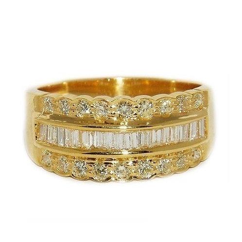 HAMPTON FbyG, Bague Diamants Joaillerie pour Femme Or Jaune 18 carats